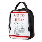 funny sports and gaming joke Neoprene Lunch Bag
