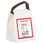funny sports and gaming joke Canvas Lunch Bag