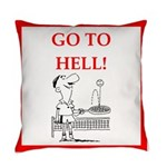 funny sports and gaming joke Everyday Pillow