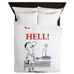 funny sports and gaming joke Queen Duvet