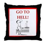 funny sports and gaming joke Throw Pillow