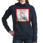 funny sports and gaming joke Women's Hooded Sweats