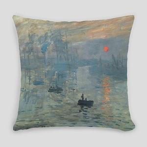 Monet Impression Sunrise Everyday Pillow