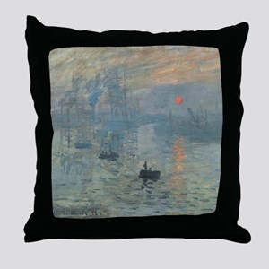 Monet Impression Sunrise Throw Pillow