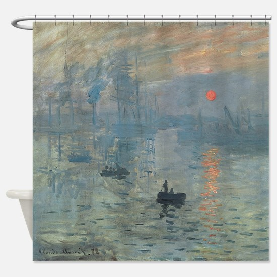 Monet Impression Sunrise Shower Curtain