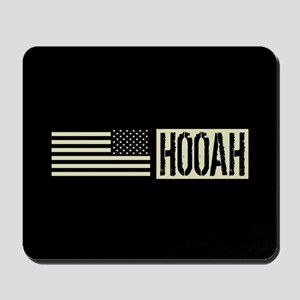 U.S. Army: Hooah (Black Flag) Mousepad