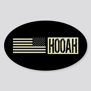 U.S. Army: Hooah (Black Flag) Sticker (Oval)