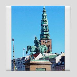 Man, Horse, History Tile Coaster
