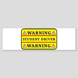 Warning Student Driver Bumper Sticker