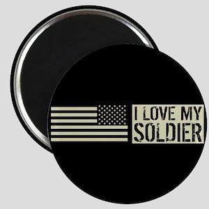 U.S. Army: I Love My Soldier (Black Flag) Magnet