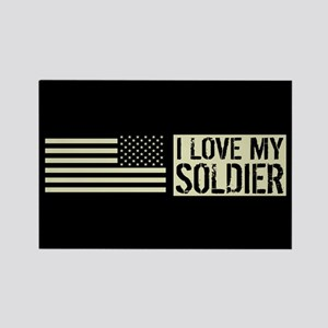 U.S. Army: I Love My Soldier (Bla Rectangle Magnet