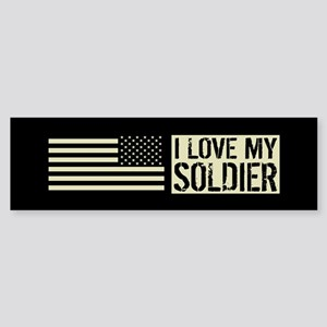 U.S. Army: I Love My Soldier (Bla Sticker (Bumper)