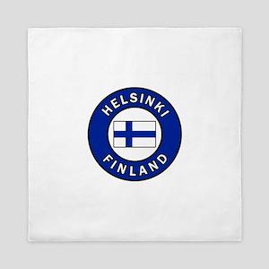 Helsinki Finland Queen Duvet