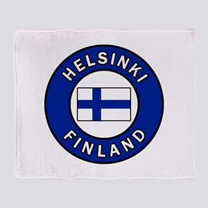 Helsinki Finland Throw Blanket