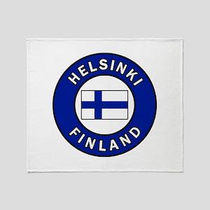 Helsinki Finland Throw Blanket