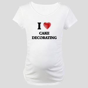 Cake Decorate Maternity T-Shirt