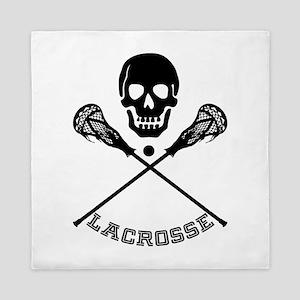 Skull and Lacrosse Sticks Queen Duvet