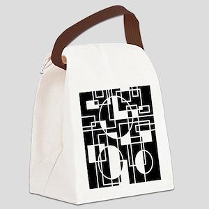 Circles Amid Squares Canvas Lunch Bag