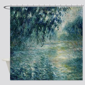 Monet Morning on the Seine Shower Curtain