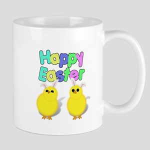 Fluffy Easter Chicks Mugs