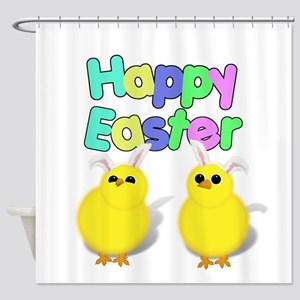 Fluffy Easter Chicks Shower Curtain