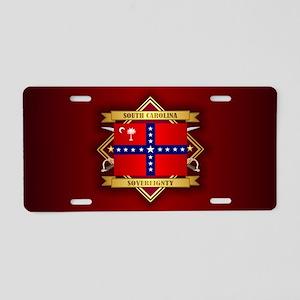 SC Sovereignty Flag Aluminum License Plate