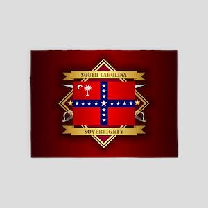 SC Sovereignty Flag 5'x7'Area Rug