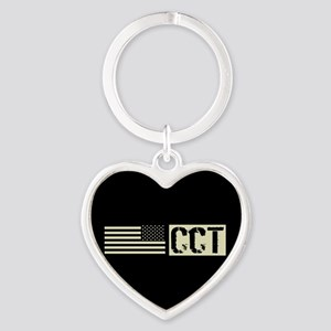 U.S. Air Force: Combat Control Team Heart Keychain