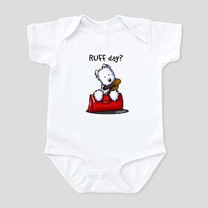 KiniArt Westie RUFF Day Infant Bodysuit