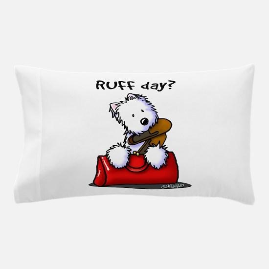 KiniArt Westie RUFF Day Pillow Case