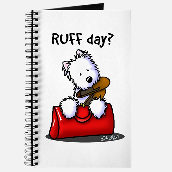 KiniArt Westie RUFF Day Journal