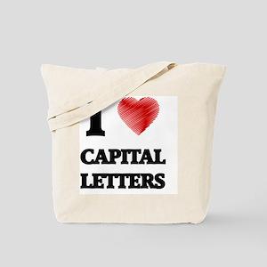 capital letter Tote Bag