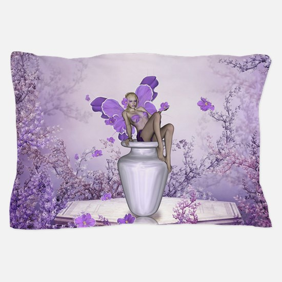 Beautiful fairy with flowers Pillow Case