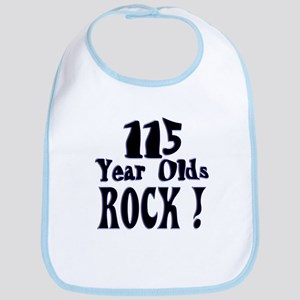 115 Year Olds Rock ! Bib