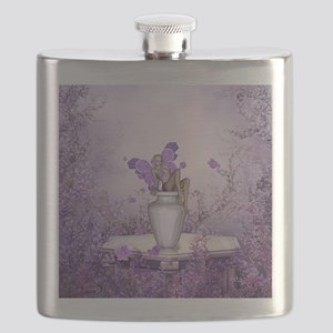 Beautiful fairy with flowers Flask