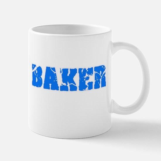 Baker Blue Bold Design Mugs