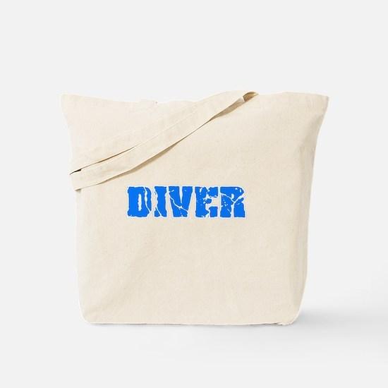 Diver Blue Bold Design Tote Bag