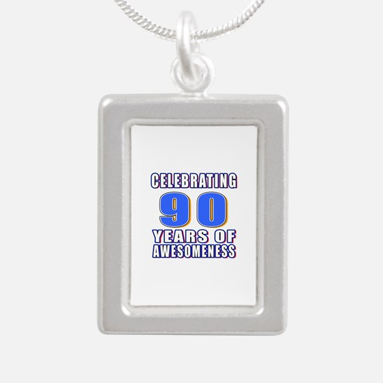 Celebrating 90 Years Of Silver Portrait Necklace