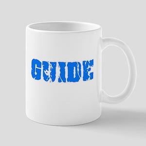 Guide Blue Bold Design Mugs