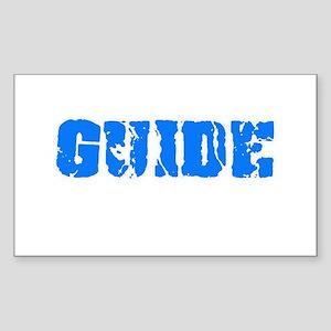 Guide Blue Bold Design Sticker