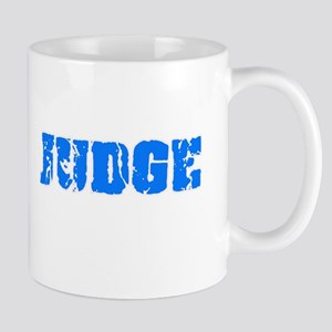 Judge Blue Bold Design Mugs