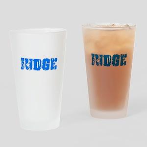 Judge Blue Bold Design Drinking Glass
