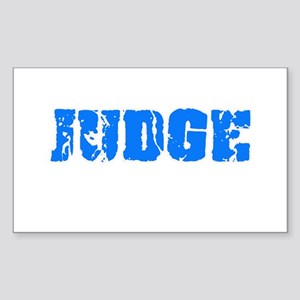 Judge Blue Bold Design Sticker