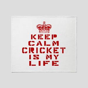 Keep Calm and Cricket Throw Blanket