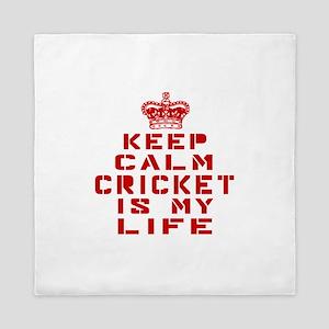Keep Calm and Cricket Queen Duvet