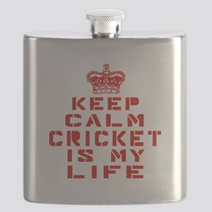 Keep Calm and Cricket Flask
