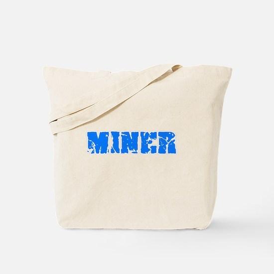 Miner Blue Bold Design Tote Bag