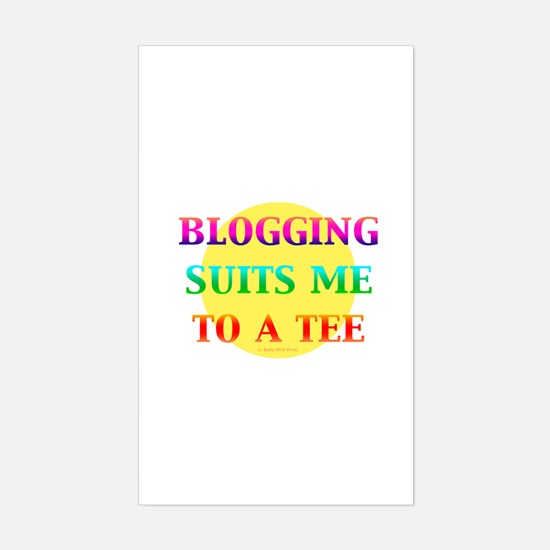 Blogger Rectangle Decal