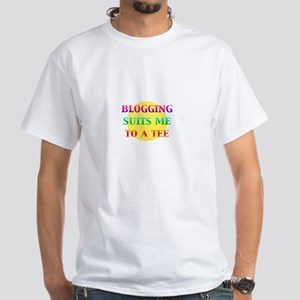 Blogger White T-Shirt