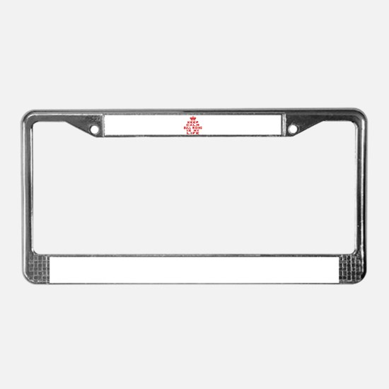 Keep Calm and Bull Riding License Plate Frame
